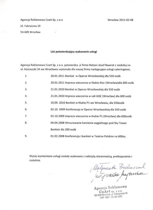 Agencja Czart 2011