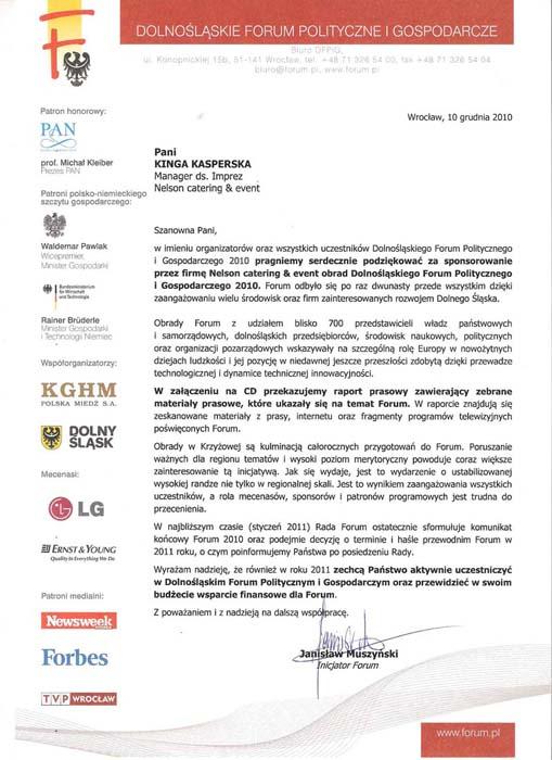dolnośląskie forum polityczne i gospodarcze - Kinga Kasperska